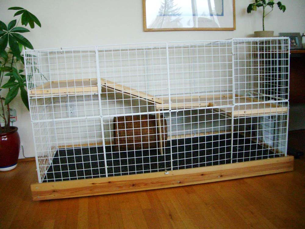Homemade indoor rabbit cages car interior design - How to make a rabbit cage ...